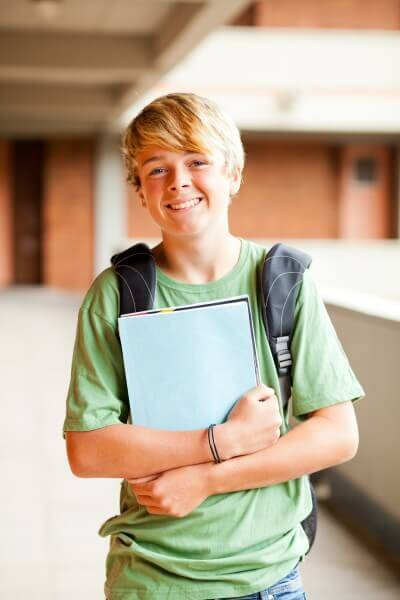 teen student portrait